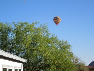 Baloon rides are available that go right over our house