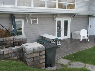 Cooperstown apartment photo - Patio with grill & sun umbrella. Lawn chairs available.