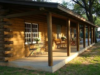 Eagle Mountain Lake house photo - Front porch lakeside w.table/chairs, swing & rockers