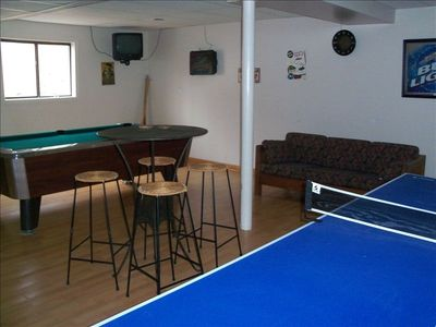 Basement Gameroom - pool table & ping pong table