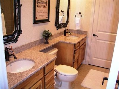 Master Bathroom - Double Granite Top Sinks!