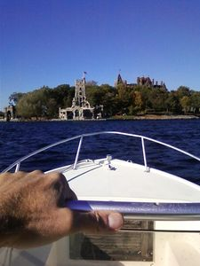 Out and about. Look!, there's boldt castle