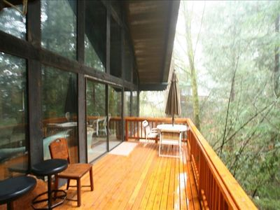 Large deck for entertaining! Mountain/forest views! Barbeque!