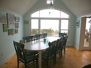 Chilmark cottage photo - the mealtime views make it hard to go out for dinner!