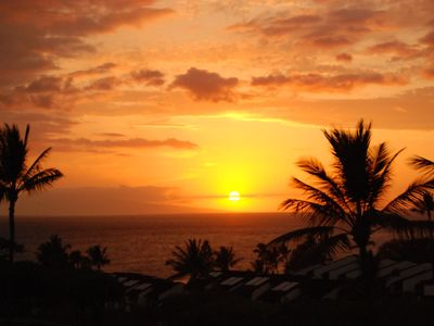 Another postcard sunset (from main lanai) in October