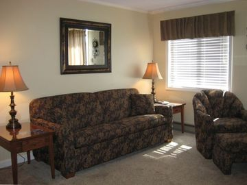 Snowshoe Mountain condo rental - ML 317, Living Room - Queen sleeper sofa - Ready for your Winter Vacation