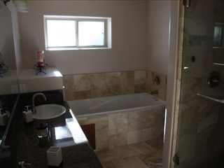 Montgomery Estates house photo - Master bathroom with jacuzzi, steam shower
