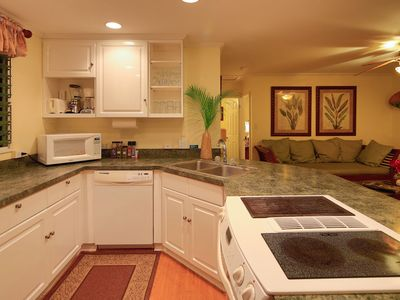 The kitchen is equipped with everything you could need--except food!