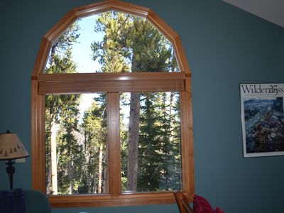 Huge window in Master with great views