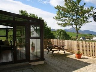 County Mayo cottage photo - Decking and picnic area at Carrowholly Cottage