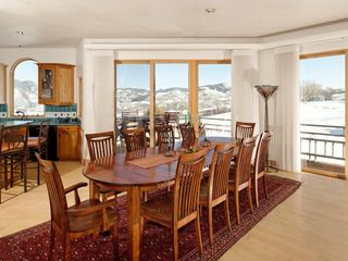 Snowmass house photo - Elegant dining with walk-out terrace