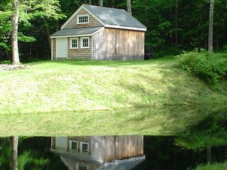 Middletown Springs lodge photo - View of quaint supply shed from pond
