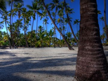 Sandy beaches are throughout the Kona area.