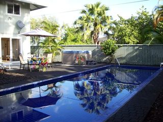 Keaau house photo - Enjoy the private patio with new jacuzzi.