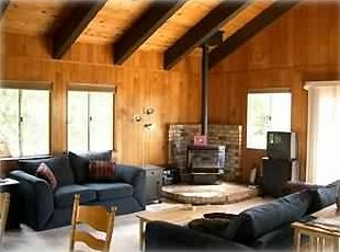 Tahoe City house rental - Living Area with Vaulted Ceiling