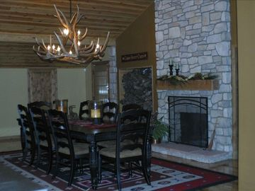 Fireplace Dining for 8