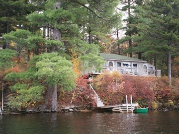 Saranac Lake cabin rental - The Loony Bin seen from the water