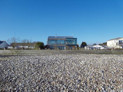 View from the beach to the house