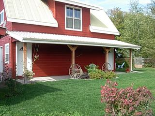 Kalispell barn photo - Barn with front porch entry