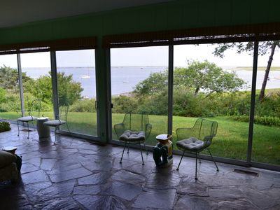 Chatham estate rental - More water views from the enclosed terrace.