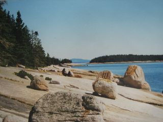 Deer Isle - Stonington lodge photo - View along east shore of Spurce Island toward Acadia NP
