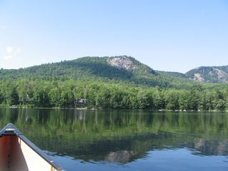 Woodstock lodge photo - Bald Mtn from canoe on Shagg Pond