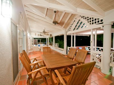 Casual Dining Area on Verandah