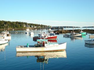 Acadia National Park cabin photo - Lobster boats at Bass Harbor