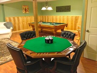 Massanutten house photo - Super comfy chairs at lux poker/ game table- hang out and play games for hours!