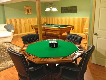 Super comfy chairs at lux poker/ game table- hang out and play games for hours!