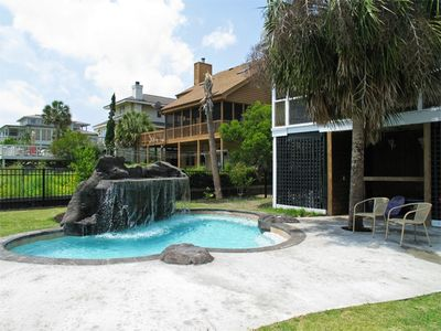 Isle of Palms house rental - Pool with Jets & Waterfall