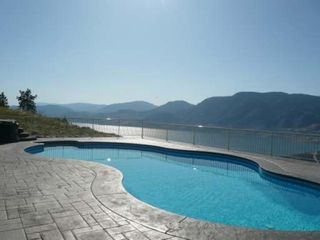 Penticton house photo - pool deck with view to skaha lake