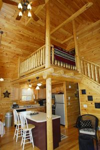 Lake Winnisquam cabin rental - Kitchen and Loft