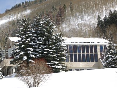 View of our Home with the Ski Lift that will take you up the Mountain behind!