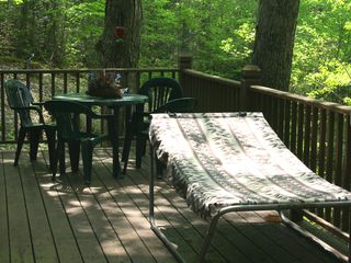 Bryson City chalet photo - It's an elevated, wrap-around deck...it's like a treehouse!