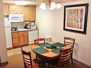 June Lake condo photo - Dining Area and Kitchen at The Heidelberg Inn