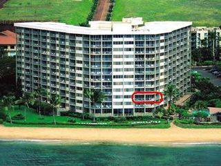 Kahana condo photo - Royal Kahana, ocean-front condo, overlooks pool, wrap-around views of Molokai