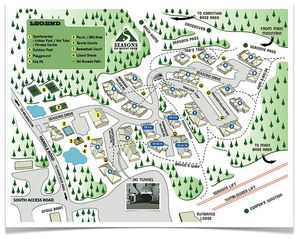 Mount Snow condo photo - Map of Seasons Mountain Side Community
