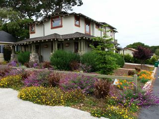 Pacific Grove house photo - Stunning landscaping surrounds this beautiful new Craftsman home.