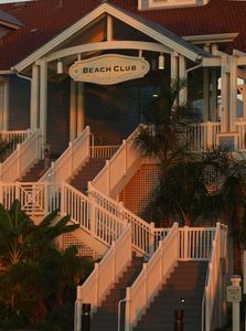 Pointe West Beach Club at sunset. It is an amazing facility.