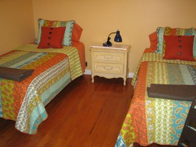 Guest Bedroom with Two Twin Size Beds