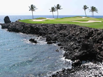 Signature hole at the Mauna Lani Golf Course