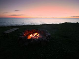 Miminegash cottage photo - Fire pit overlooking the ocean