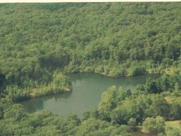 Ariel view of the entire private lake
