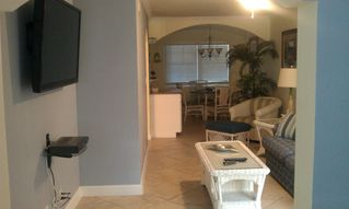 Indian Shores condo photo - The living room with new 50' plazma tv