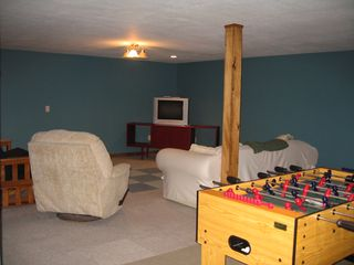 Jay Peak house photo - den in basement - great for watching the game!