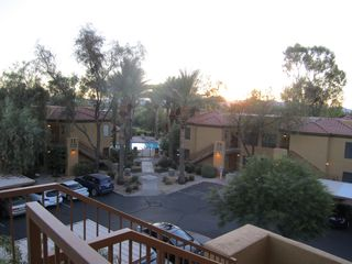Scottsdale condo photo - View of pool from front balcony (similar view from kitchen window)
