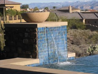 Fountain Hills house photo - Enjoy the sound of water... or the warm glow of the flames at night
