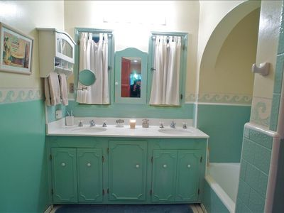 Master bathroom with 2 sinks