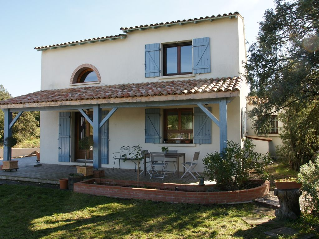 Mediterranean villa countryside natural park of haut languedoc 3 br vacation house for rent - Vacation houses in the countryside ...